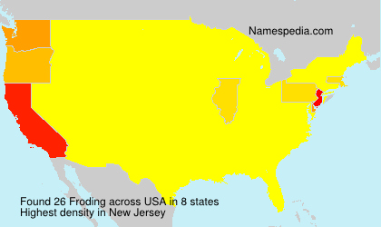 Surname Froding in USA