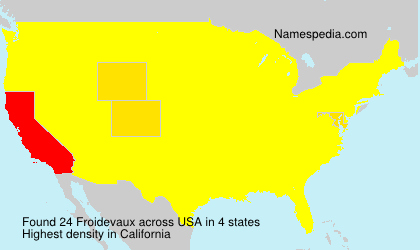 Surname Froidevaux in USA