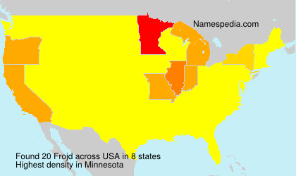 Surname Frojd in USA