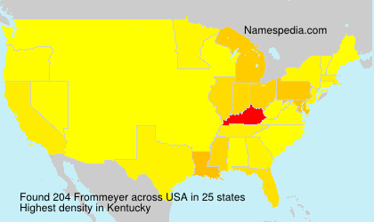 Surname Frommeyer in USA