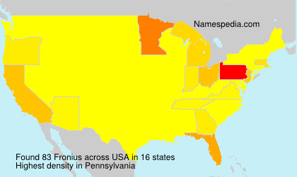 Familiennamen Fronius - USA
