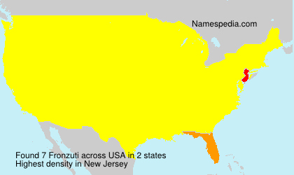 Surname Fronzuti in USA