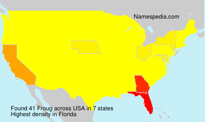 Surname Froug in USA
