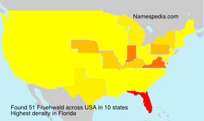 Surname Fruehwald in USA