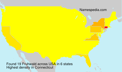 Surname Fruhwald in USA