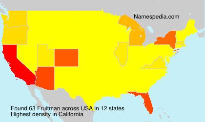 Familiennamen Fruitman - USA
