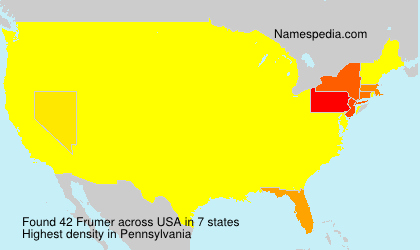 Surname Frumer in USA