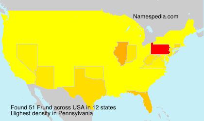 Surname Frund in USA