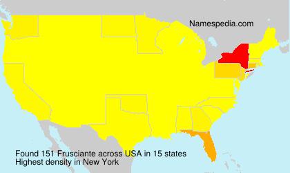 Surname Frusciante in USA