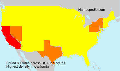 Surname Frutas in USA