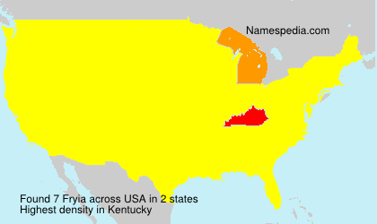 Surname Fryia in USA
