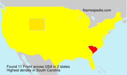 Surname Fryml in USA