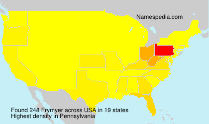 Surname Frymyer in USA