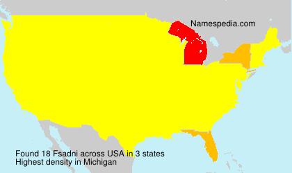 Familiennamen Fsadni - USA