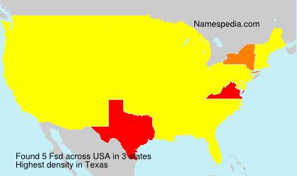 Familiennamen Fsd - USA