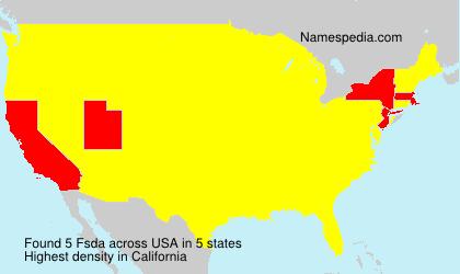 Familiennamen Fsda - USA