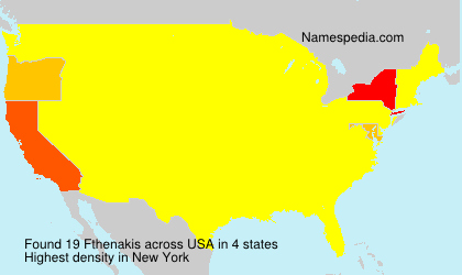 Surname Fthenakis in USA