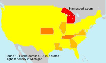Surname Fuche in USA