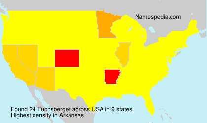 Surname Fuchsberger in USA