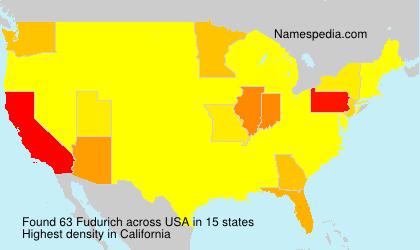 Surname Fudurich in USA