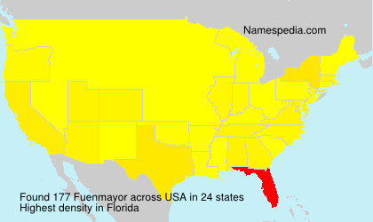 Surname Fuenmayor in USA