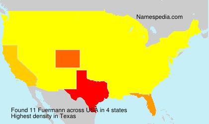Surname Fuermann in USA