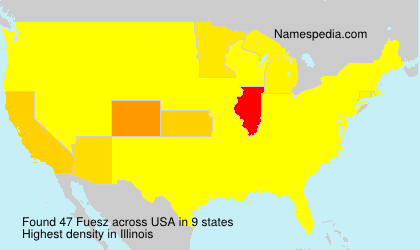 Surname Fuesz in USA