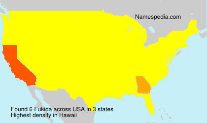 Surname Fukida in USA