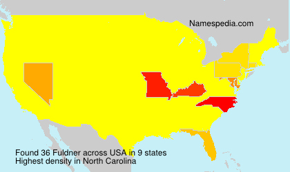 Surname Fuldner in USA