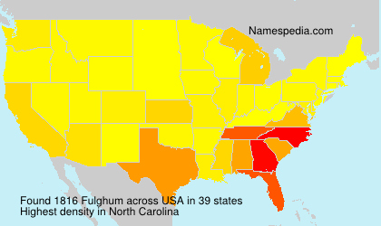 Surname Fulghum in USA