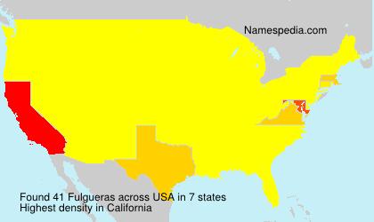Surname Fulgueras in USA