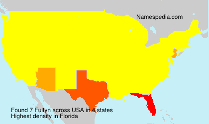 Surname Fultyn in USA