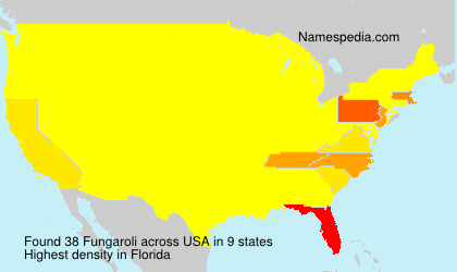 Surname Fungaroli in USA