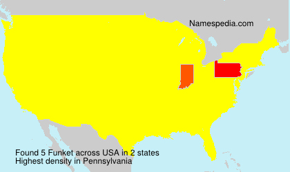 Surname Funket in USA