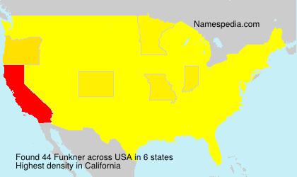 Familiennamen Funkner - USA