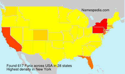 Surname Furia in USA