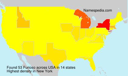 Surname Furioso in USA