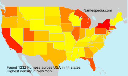 Surname Furness in USA
