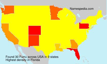 Surname Furru in USA