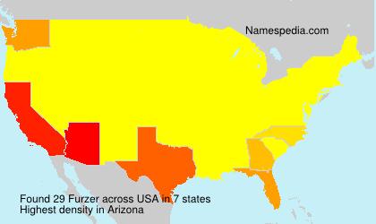 Familiennamen Furzer - USA