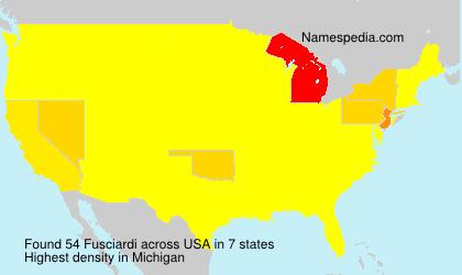 Familiennamen Fusciardi - USA