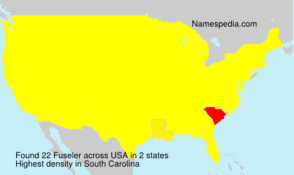 Surname Fuseler in USA