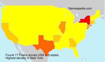 Surname Fusha in USA