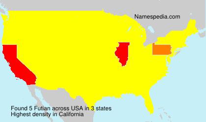 Surname Futian in USA