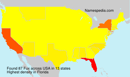 Surname Fux in USA