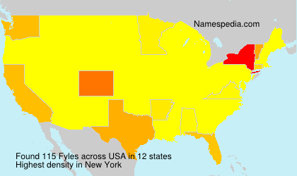 Surname Fyles in USA