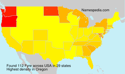 Surname Fyre in USA