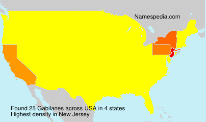 Surname Gabilanes in USA