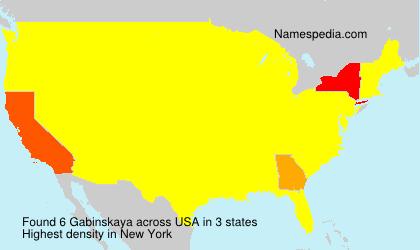 Familiennamen Gabinskaya - USA