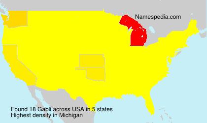 Surname Gabli in USA